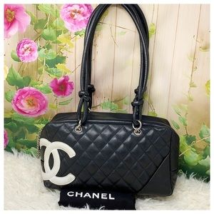 Authentic Chanel Cambon Line Shoulder Bag